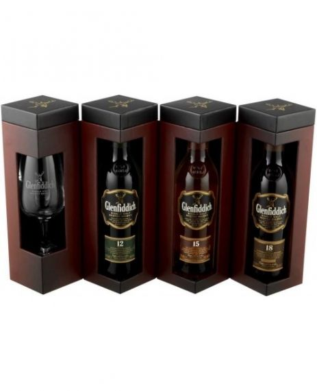 GLENFIDDICH EXPLORER'S COLLECTION CU PAHAR 3x0.2L 40%